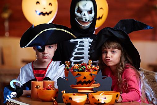Colorful Halloween performance