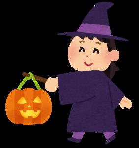 ハロウィン魔女とランタン