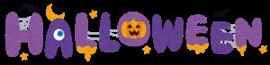 ハロウィンの紫ロゴ