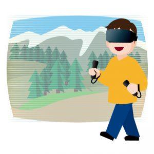 VRをつかったいるイラスト