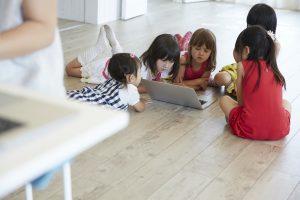 子ども達オンライン英語勉強